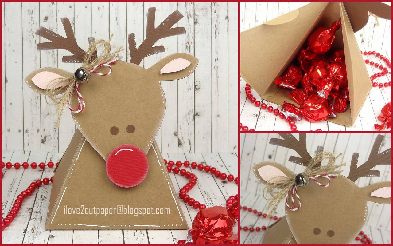 Reindeer Action Wobble Gift Box