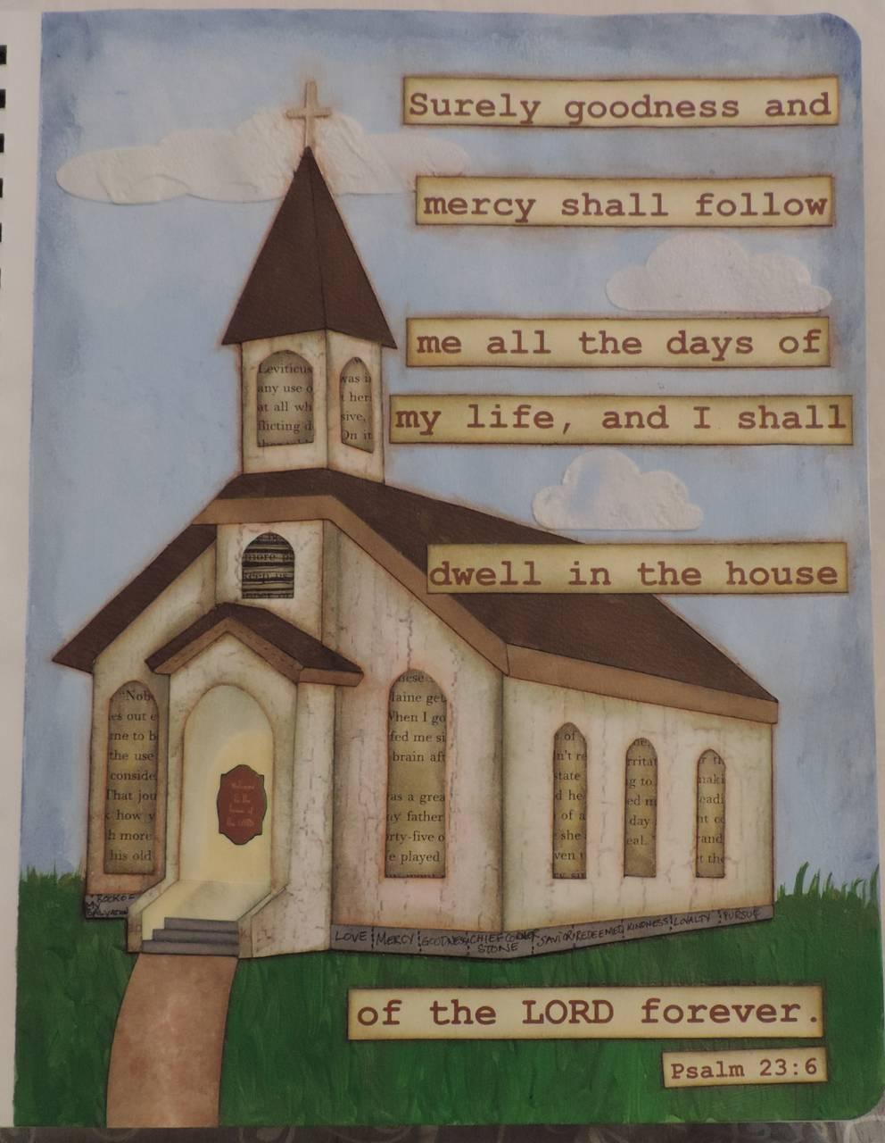 Bible Art Journal Page