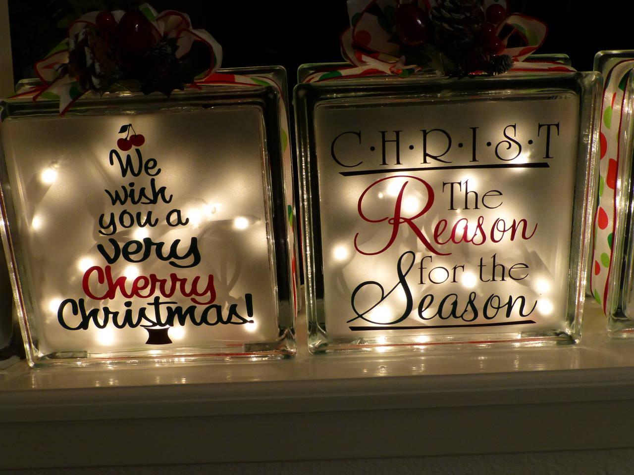 Creative Classroom Decoration Ideas ~ Christmas glass block pazzles albums