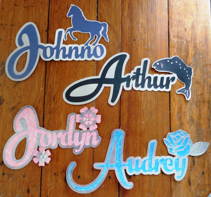 Personalised name signs