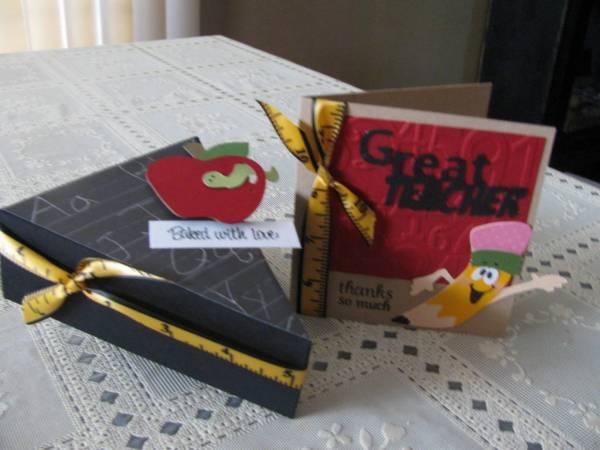 Teacher pie box& card