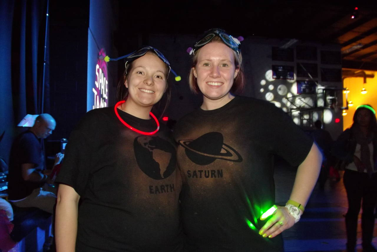 Teachers in Shirts on Space Jam Night