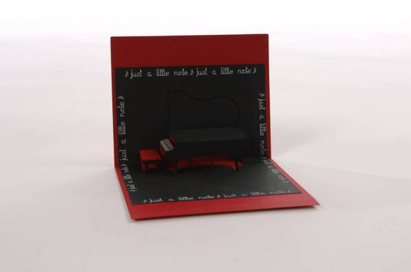 Pop Up Piano Card