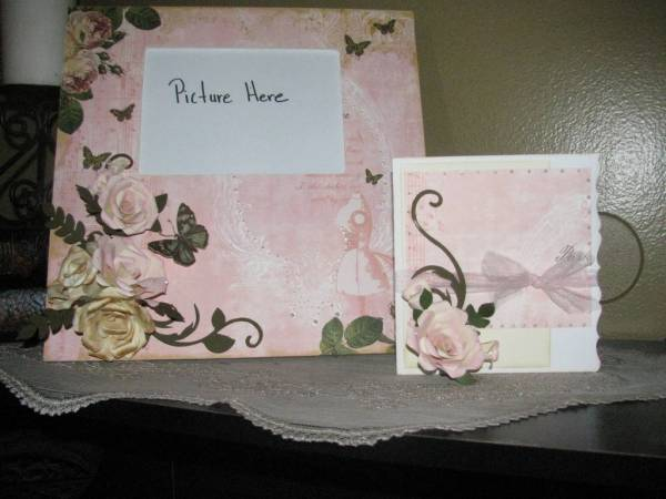 shabby chic frame and card