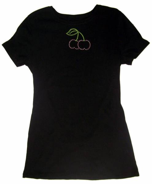 Cherry Rhinestone Tshirt