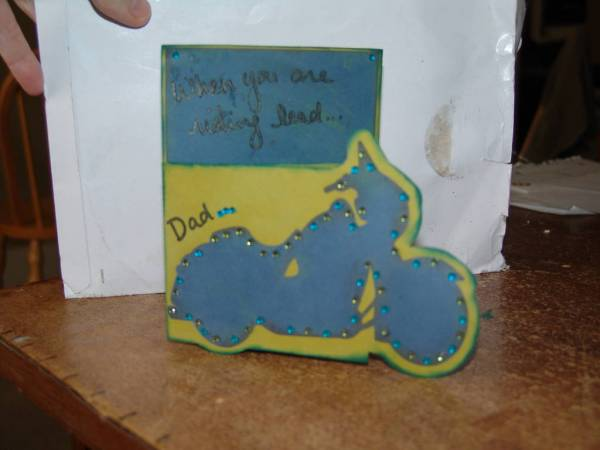 Father's Day Motorcycle card