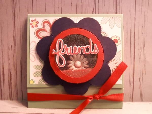 Shaker box Circle- Friends Card