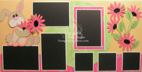 Bunny n' Flowers Layout