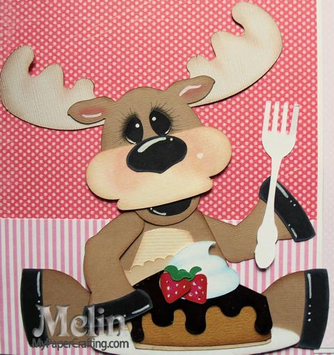 Moose Be Love Scrapbook Paper Piecing Layout