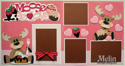 Moose Be Love Scrapbook Paper Piecing Layout