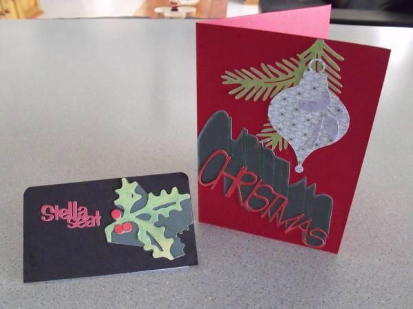 Christmas card seat card