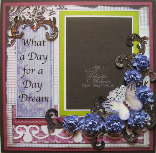 What A Day For A Day Dream One Page Layout