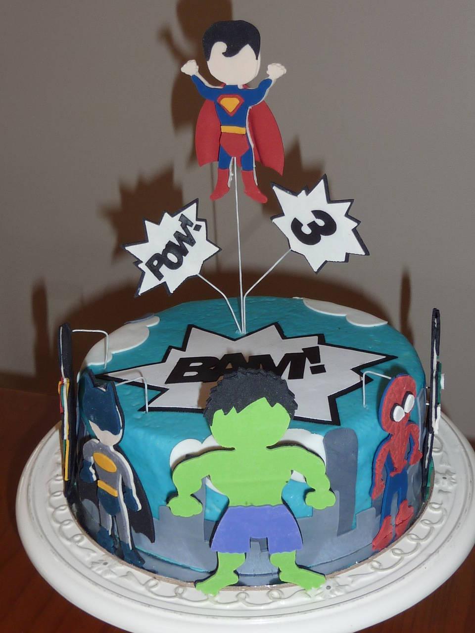 Ryder's Super Hero 3rd Birthday Cake