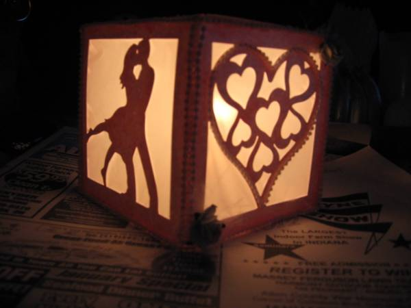candle to be use as a table center piece...for valentine