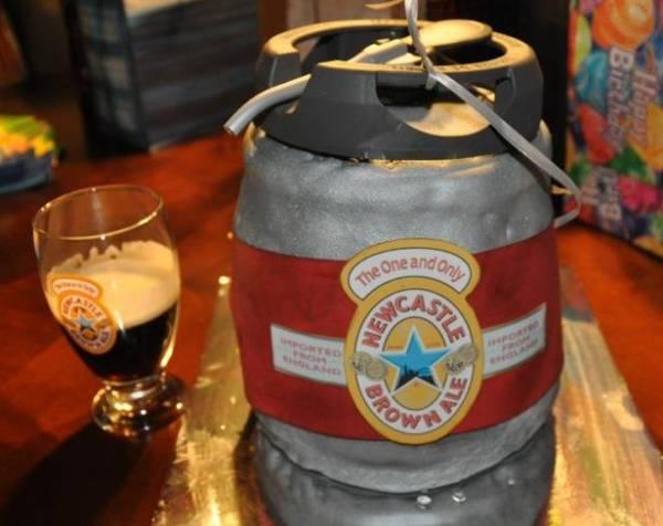 St.Patrick's Day Beer Keg Cake