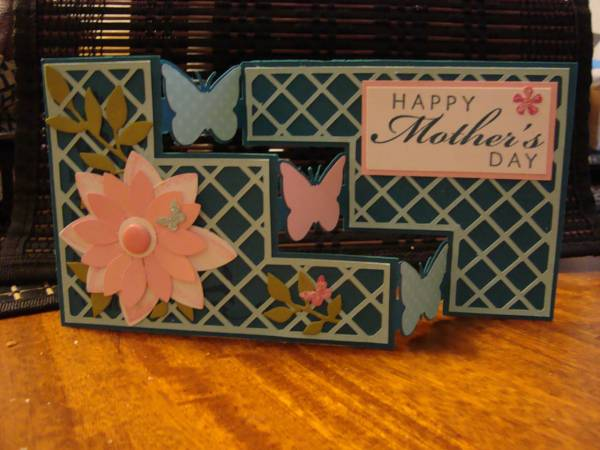 mother's day April 2012 challenge...tri step card