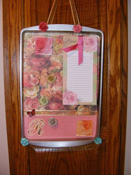 Cookie Sheet Memo Board