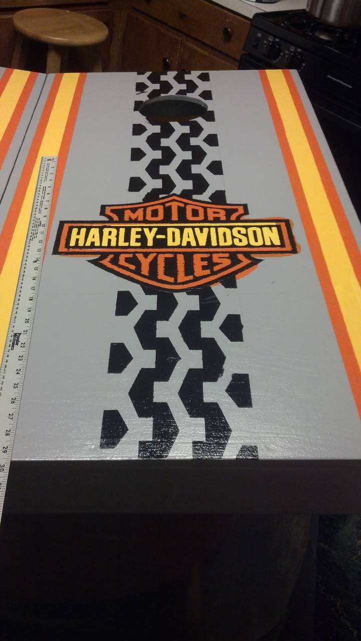 Harley Davidson Corn boards