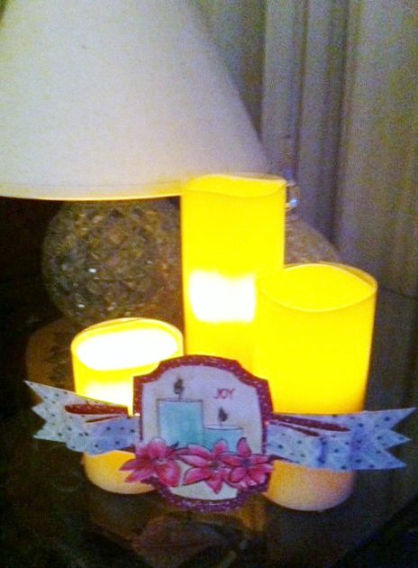 Day 12 Holida Candle Tag.
