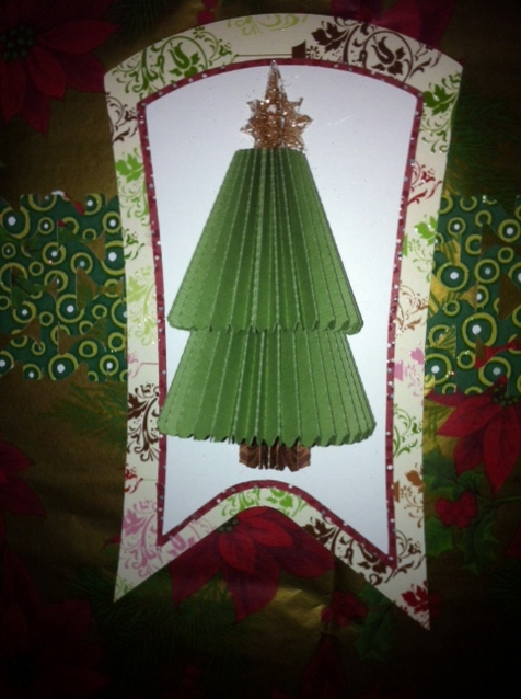 Day 6 Pleated Tree Gift Tag