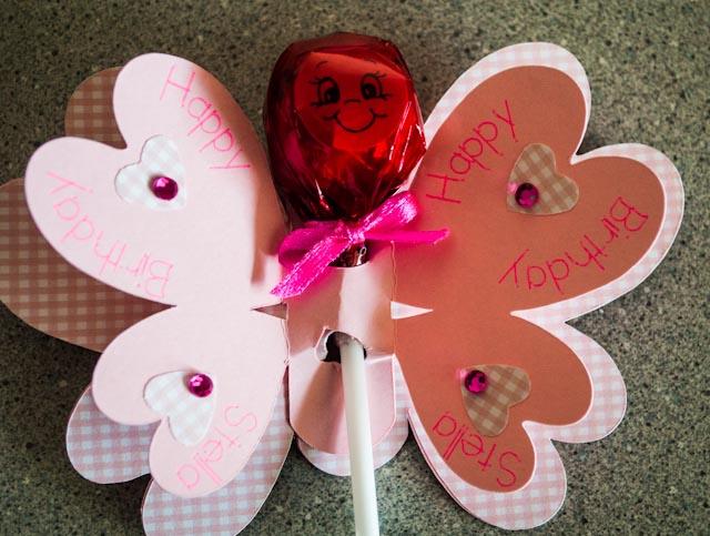 stella's birthday butterfly pops