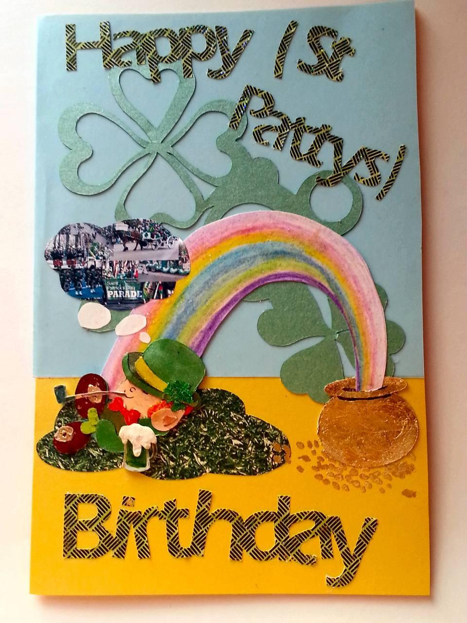St Patrick birthday card