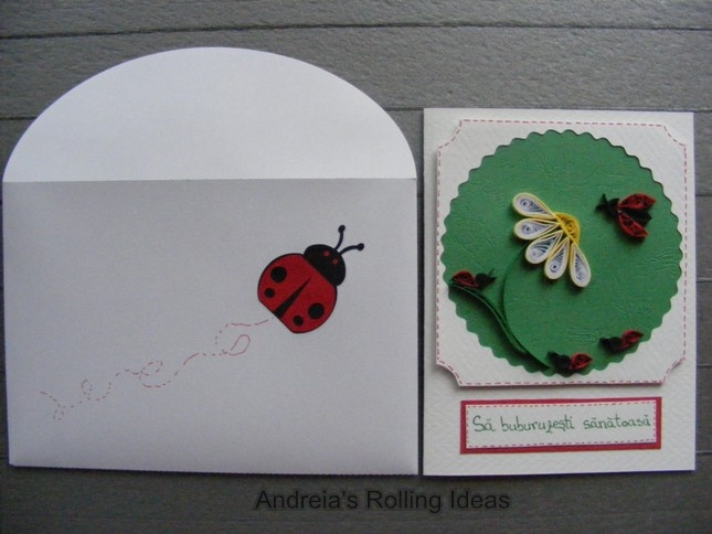 Ladybug card and envelope