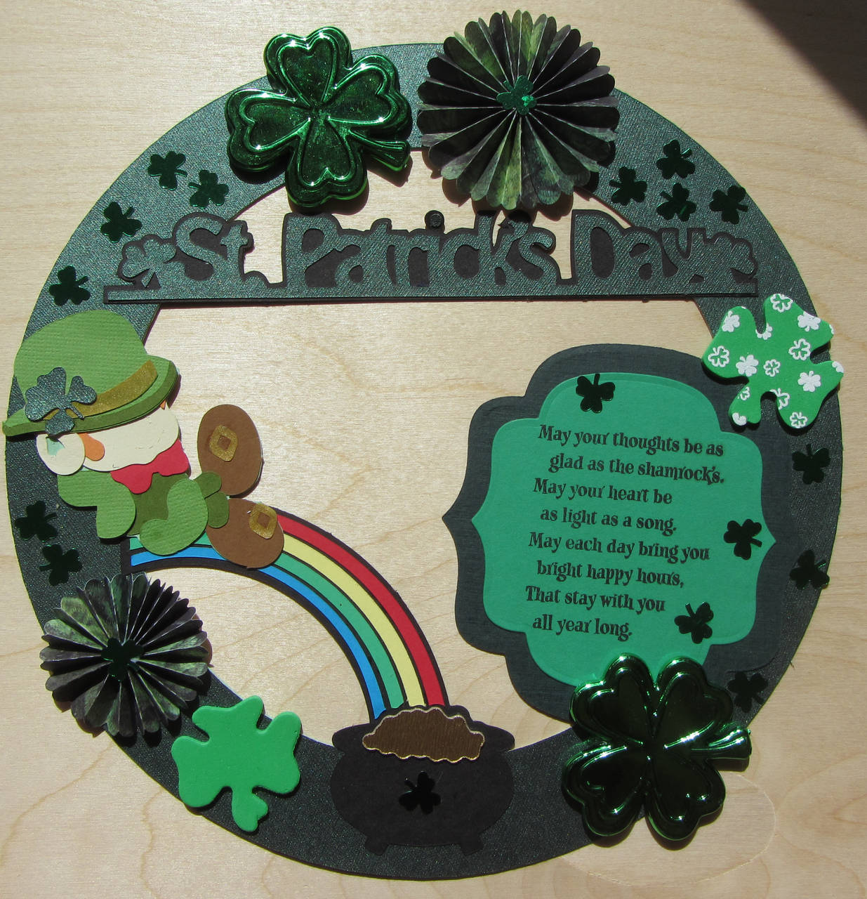 St Patricks Wreath for my Daughter in NYC