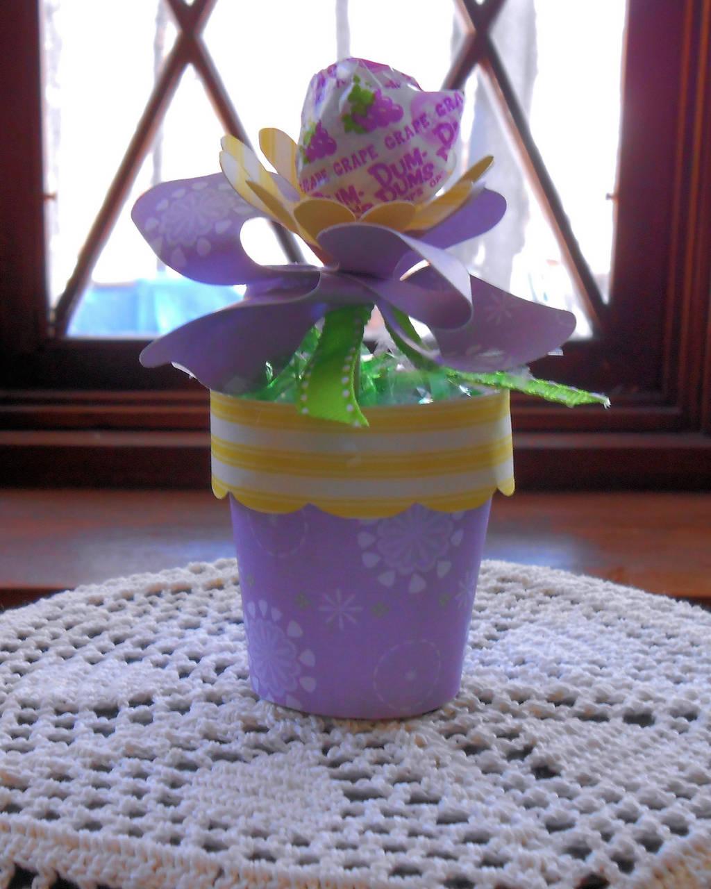 Dixie Cup flower pot