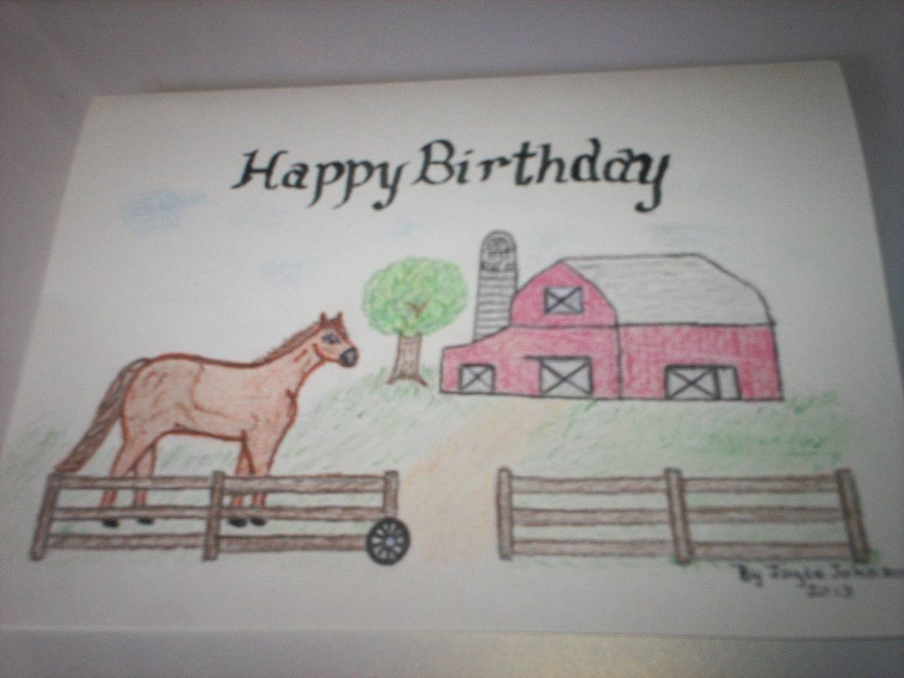 Hand draw birthday cards