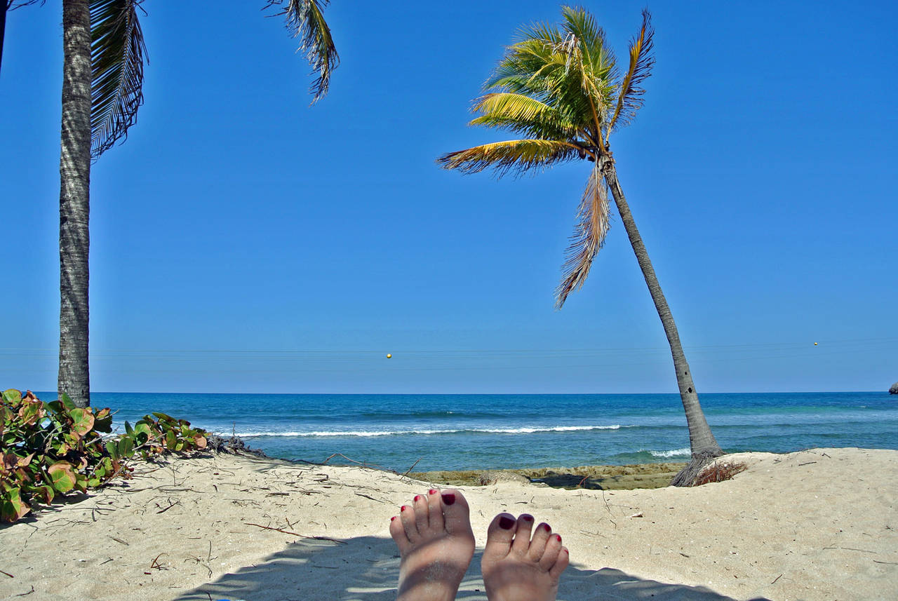 Relaxing on the beach at Labadee, Haiti