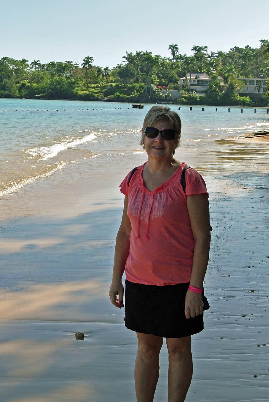 Chris on the Beach at Dunn River Falls, Jamaica
