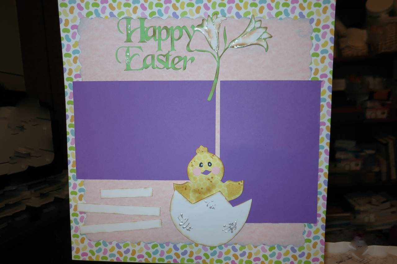 Easter Make n Take using all Pazzels cuts/from library