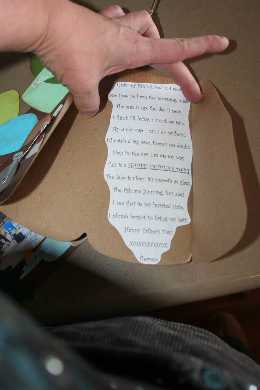 Father's day poem inside Fishing Jacket