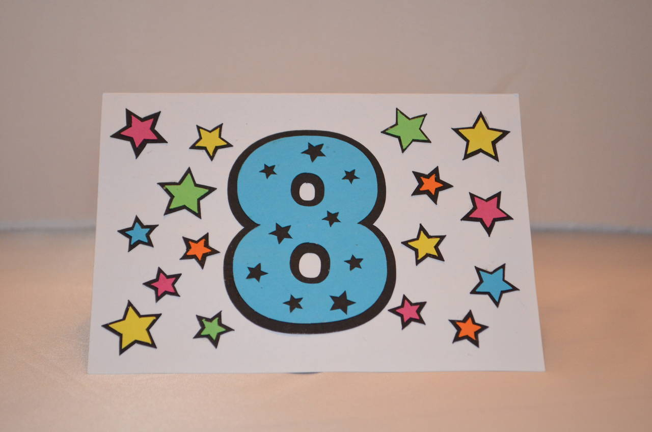 8th Birthday Card