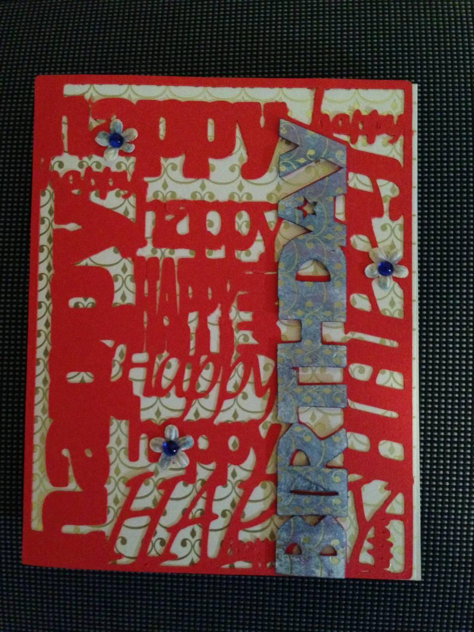Birthday card with overlay