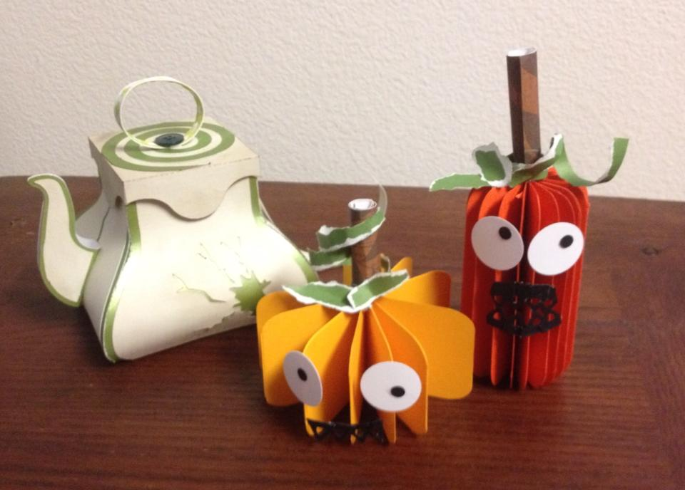 Halloween crafting with my kids.