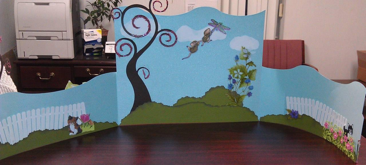 Spring Desk Decoration Bendi Card