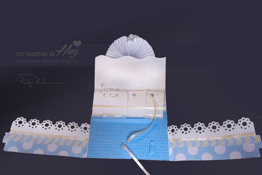Baby Blue Rosette Card