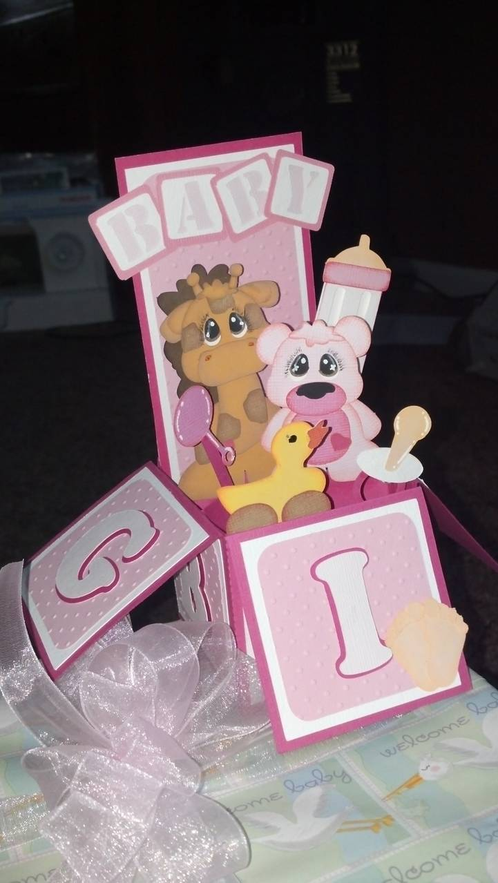 baby shower tag and box