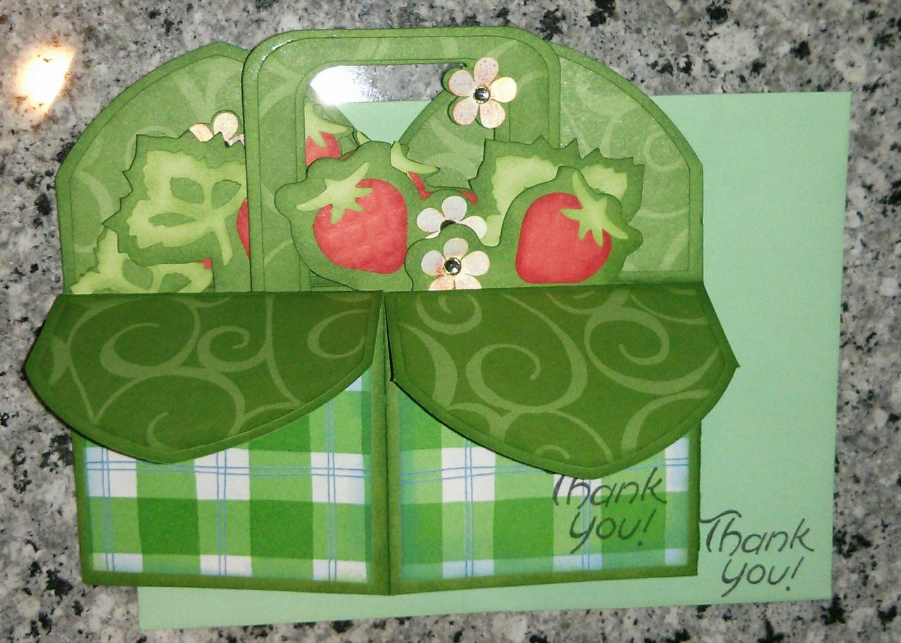 Strawberry Pop-Up Box Card