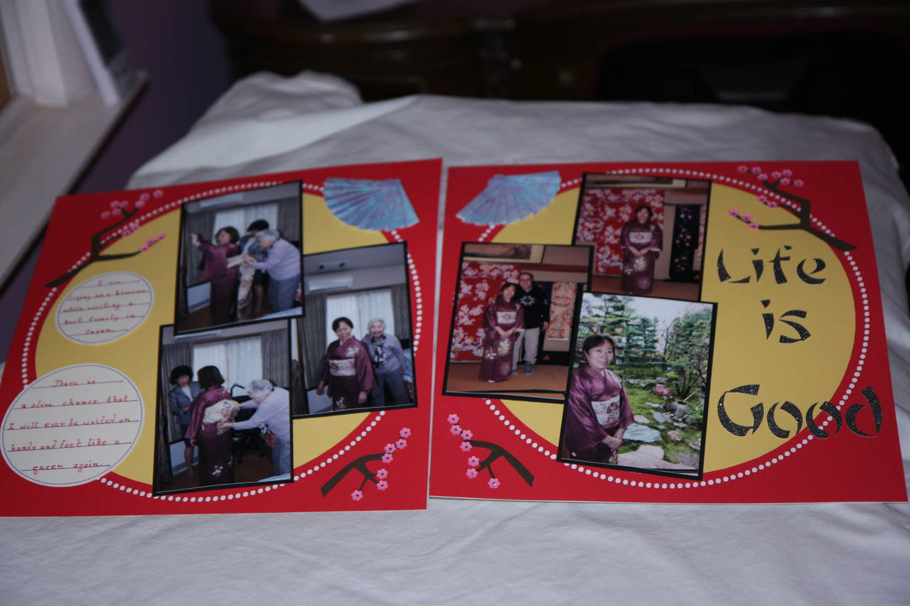 My family two page layout.
