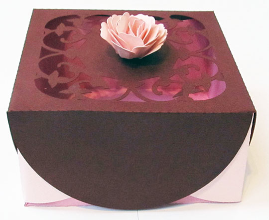 Gift Box with Scalloped Lid