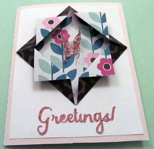 Folded Window Frame Card