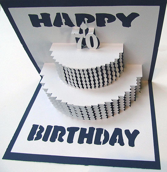 Happy 70 Birthday Popup Card