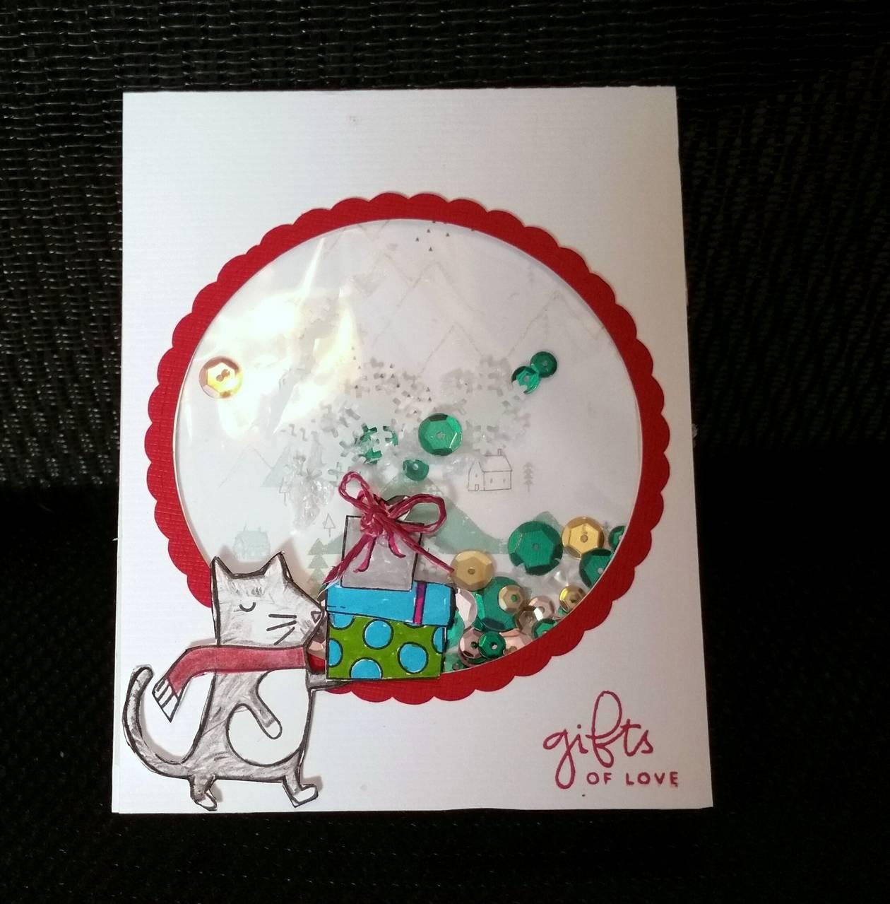 Cat shaker card