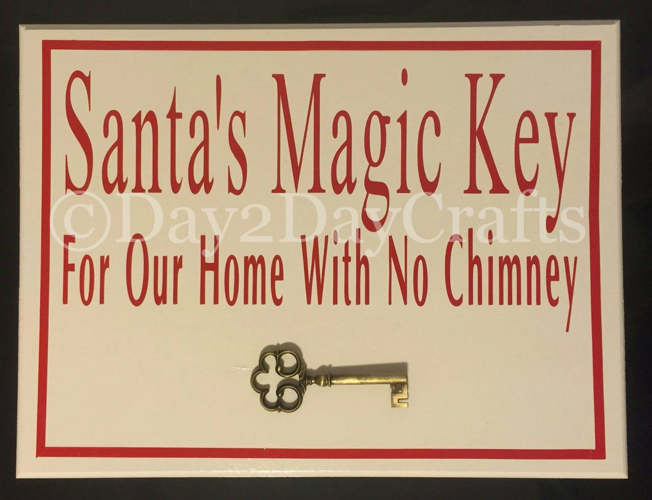 Santa Magic Key Sign