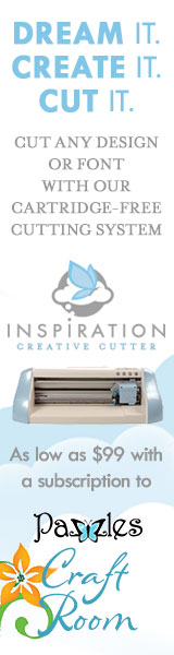 Get the Pazzles Inspiration, the most comprehensive electronic die cutter available, for as little as 99 dollars down.