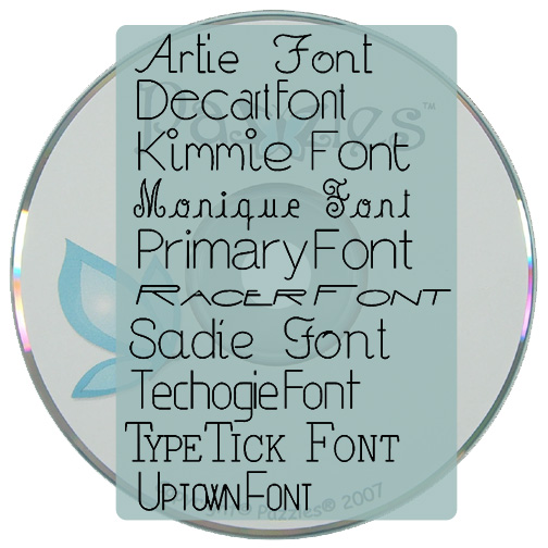 Journaling Font 1 - Physical Media (CD)