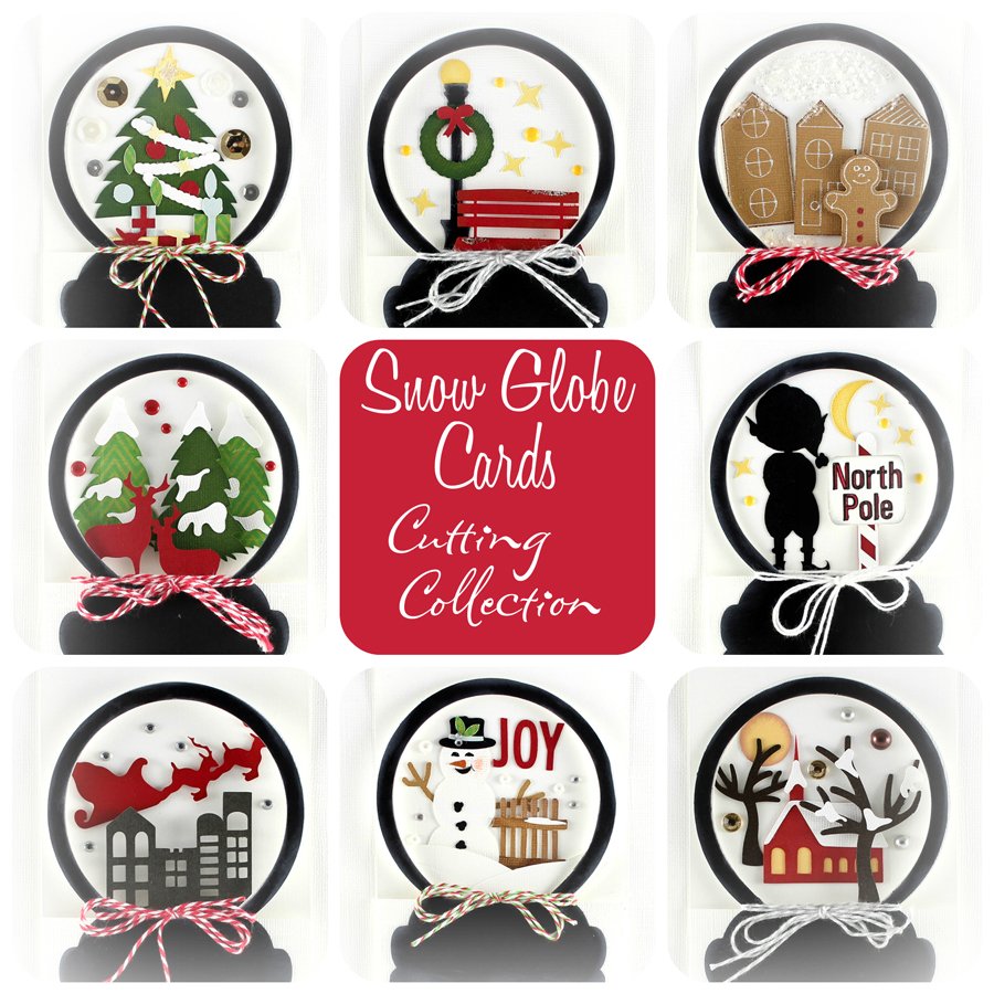 Snow Globe Cards Cutting Collection